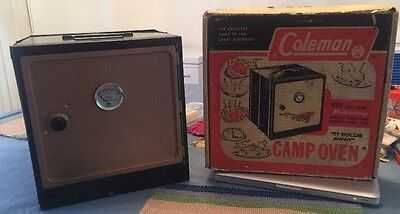 Coleman Fold Up Camp Oven With Rack & Original Box Vintage From 1971