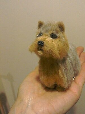 Hand needle felted Yorkshire Terrier dog