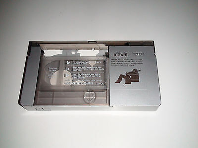 MAXELL VHS-C To VHS / S-VHS Cassette Tape Adapter