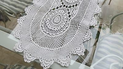 Vintage crochet table runner/doiley centrepiece 140 x 30cm