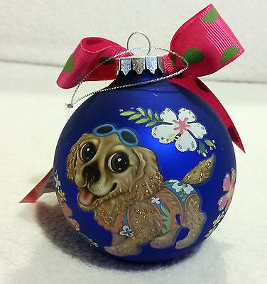 Cocker Spaniel- Painted Dog Christmas Ball Ornament glass Gifts Furbabies 4""