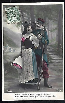 1907-French Patriotic Postcard