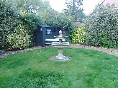 Large 3 tier garden water fountain