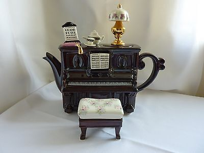Teapottery Large Collectable Novelty Brown Piano Teapot by Swineside Teapottery