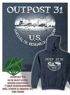 OUTPOST 31 HOODIE (John Carpenter's The Thing) dk heather grey