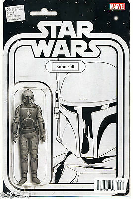 STAR WARS #7 Action Figure Sketch Cover Variant BOBA FETT Limited Edition