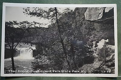 Real Photo Trail Scene Cumberland Falls State Park, KY., 1956 Postmark .