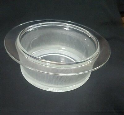 Heller Ribbed Glass Bottom Only For A 2   Quart Bakeware Dish