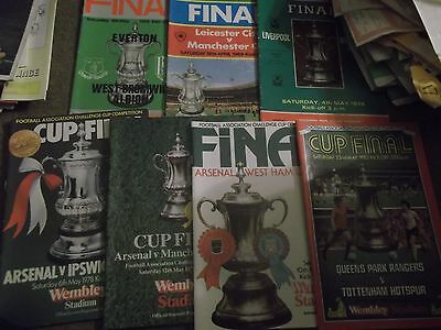 Fa Cup Final Football Programme Collection 1968 - 1982 Various