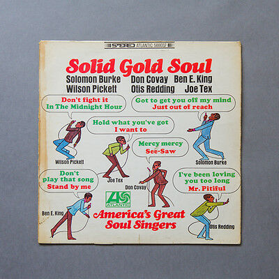 Solid Gold Soul Comp LP, Atlantic, Northern Soul, 1966, Various Artists
