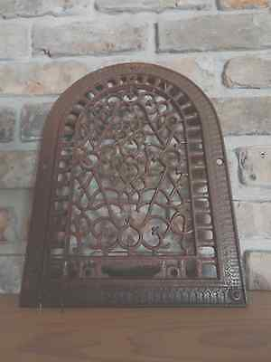 Antique Cast Iron Arch Top Dome Heat Grate Wall Register Old Vintage