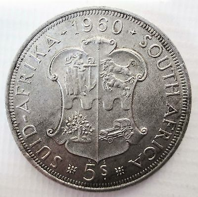 SOUTH AFRICA 1960 UNITY IS STRENGTH CROWN 5 shillings SUID AFRIKA 5/-