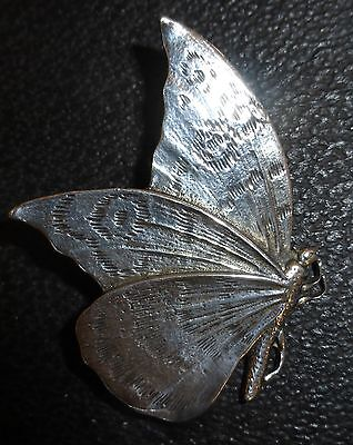 Large Vintage Silver (925) Butterfly Brooch