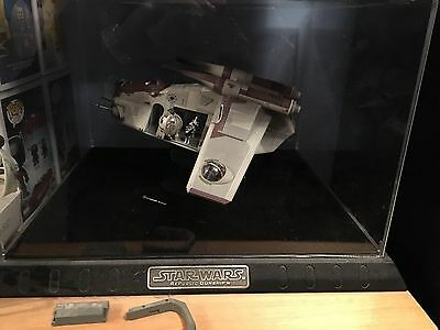 STAR WARS Republic Gunship Code 3 Diecast Model Eith Display Case