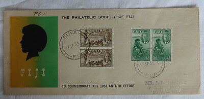 The Philatelic Society Fiji Commemorate 1951 Anti-TB Effort FDC First Day Cover