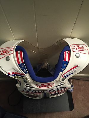 JT Racing Vintage V1000 Chest Protector USA FLAGS R,W,blue custom Improved Honda