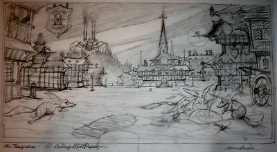 Rodney Matthews, Original Concept Sketch for Avantasia Album Cover,The Timepiece