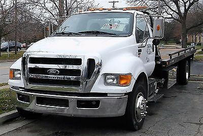 Genuine Ford F650 2011 Jerr Dan 21Rrsb Flat Bed Tow Truck / Wrecker