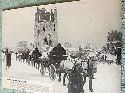 m10b ephemera ww1 picture ruined cloth hall at ypres