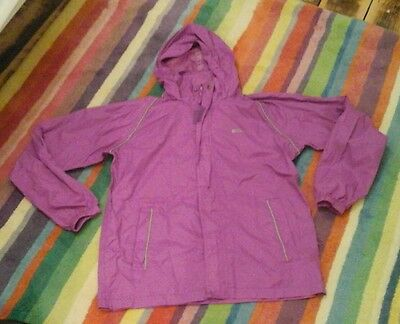 Girl's Mountain Warehouse dark pink shower cagoule jacket age 13 years