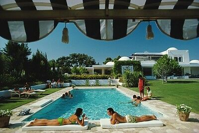'Pool In Sotogrande' Slim Aarons 1975 **HUGE** 1.5 X 1 m Original C-type Print