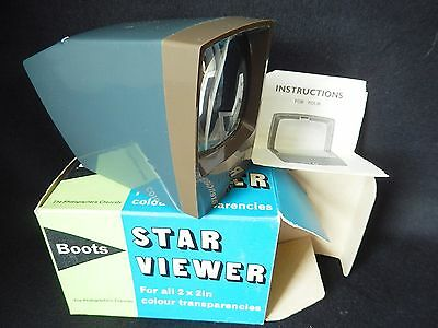 Vintage Boots Star Viewer For 2 x 2 inch Colour Slides Transparencies