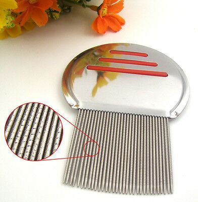 Lice nit comb get down to NIT FREE stainless steel metal head and teeth