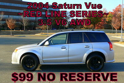 2004 Saturn Vue RED LINE Series       ~$99 NO RESERVE~ 2004 - JUST TRADED! LEATHER! SUNROOF! V6! AWD! NEEDS A LIL TLC! $99 NO RESERVE!