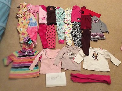 Lot Of Baby Girl Winter Clothes Size 18 Months