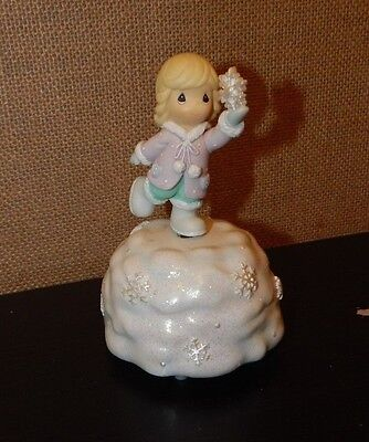 Precious Moments Snowflake Girl Musical Figurine-Plays It Came Upon Midn Clear