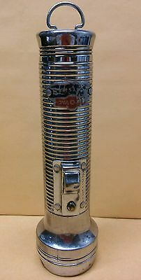 Vintage Rare Ray-O-Vac Sportsman Metal Flashlight