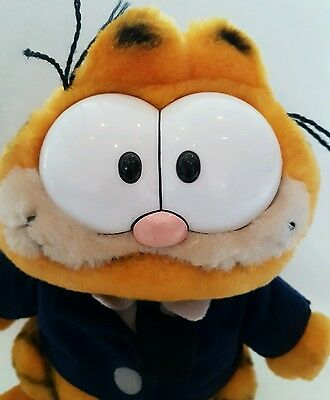 """Garfield cat vintage toy plush Soft Toy Policeman Retro Collectable Rare 9"""""""