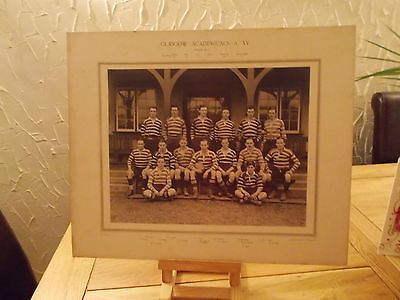 Large Original Real Photograph Glasgow Academicals 1911-12 Team Without Frame