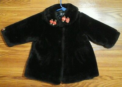 Baby girls faux fur coat size 24 months The Childrens Place