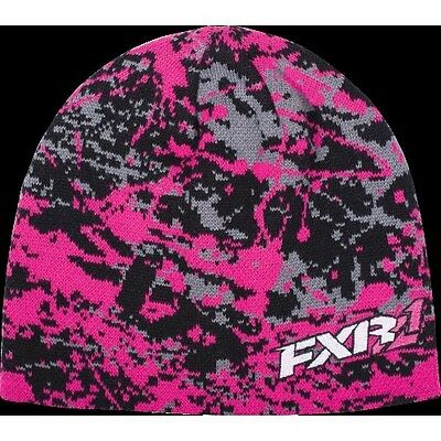 FXR BEANIE CAP HAT- Fuchsia Sabo / Splatter - One Size  - NEW WITH TAGS