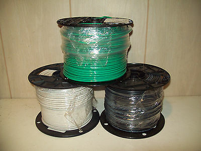 500' black,white,green #12awg solid copper THHN/THWN ! Free Shipping ! NEW !