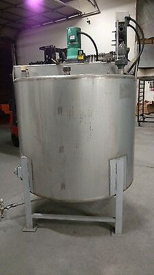 500 gallon stainless steel mixing tank