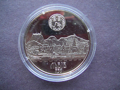 "Ukraine Coin 2006 5 Hryven UNC "" CITY of LVIV ""  ANCIENT CITY Lvov Mint"