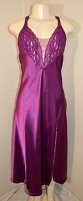 """Vintage Victoria's Secret Silky Lacey Satin Long Nightgown-Size S-Bust To 36"""""""
