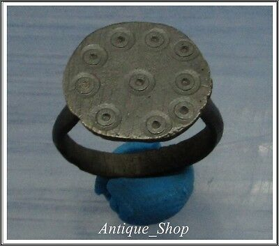 Ancient BRONZE Roman Ring with ** CIRCLES** FERTILITY**