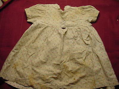 Old Vintage Antique Girl Baby Doll Dress Lace Collar