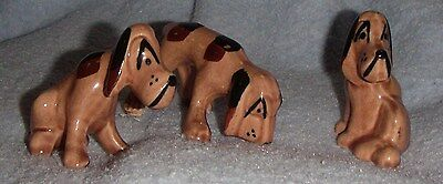 3 Bloodhound Figures by Grindley Pottery