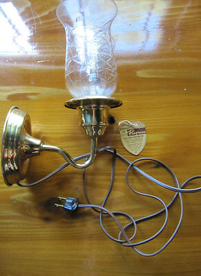Antique 1949 Progressive Light Company Sconce- New never used with box and tag