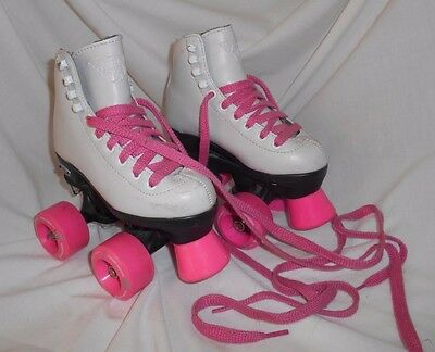 Kids Riedell RW Classic High Top Wave Girls Quad Roller Skates Size 10