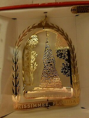 Monument of States Kissimee  Florida  24k gold finish Brass Ornament