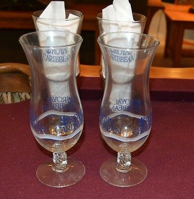 Set Of4 Royal Caribbean International Schooner Bar Cocktail Glasses