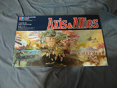 (NEW)Axis and Allies:Milton Bradley 1984 EDITION MB GAMEMASTER SERIES Board Game