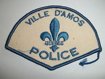 Ville D'amos Police Patch,quebec,canada,