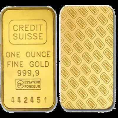 Credit Suisse One Ounce Gold Layered Bar