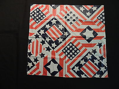 Vintage Red, White, Blue Stars and Stipes Ski or Snowboard Bandanna